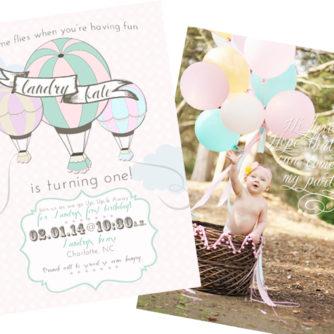 Landry's Hot Air Balloon First Birthday Brunch