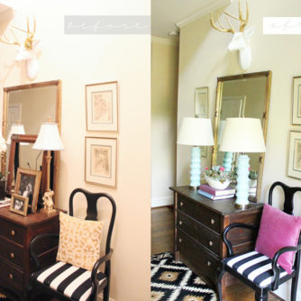 Updated Entryway and Bringing Spring In!!