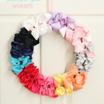 DIY Bow Wreath AKA Super Easy Baby Shower Gift!