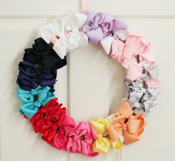 This DIY Bow Wreath is sure to be the hit of any baby shower!