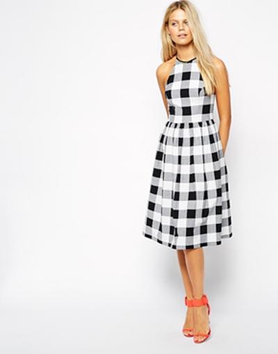 gingham dress, midi dress