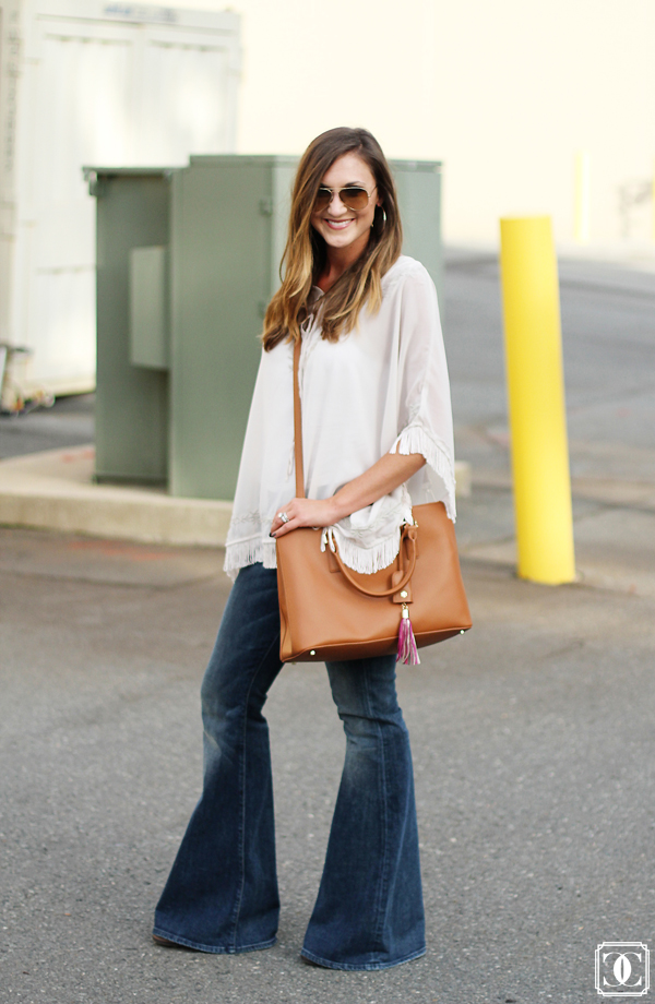 fall fashion, fall style, flared denim, fall blouse