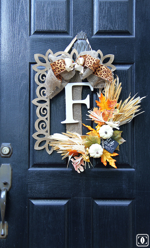 | Easy DIY Fall Wreath featured by popular Dallas lifestyle blogger, Style Your Senses