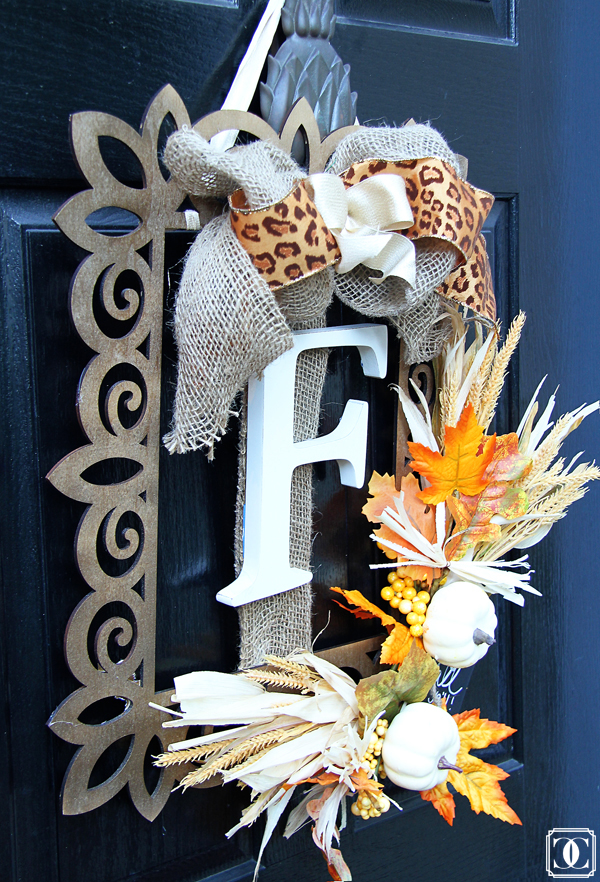 fall wreath, DIY front door wreath, autumn wreath