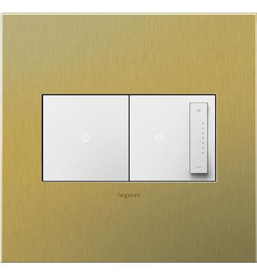 brass switch plate, chic powder bath