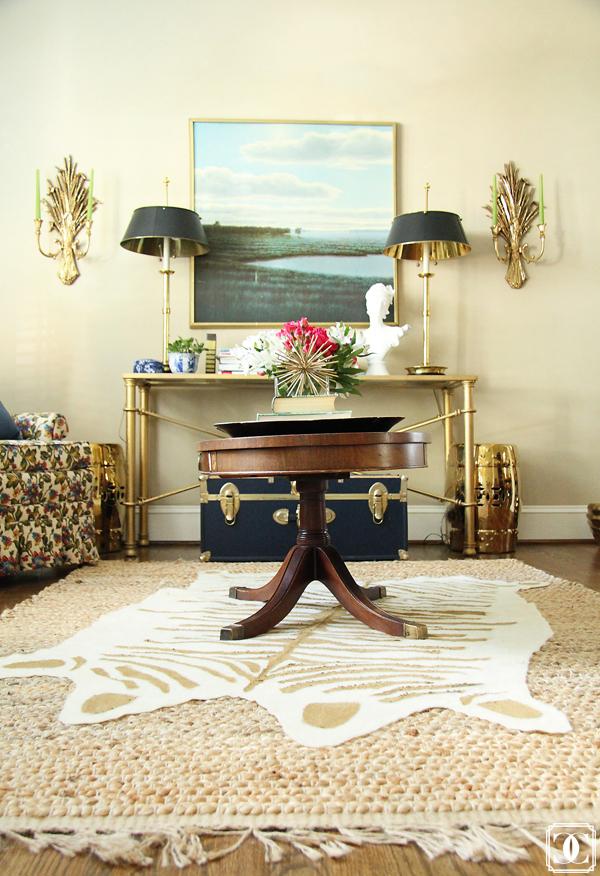 DIY faux hide, hide rug, gold hide rig