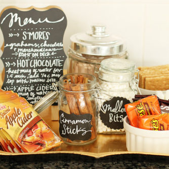 Fall Dessert Favorites Station Bar