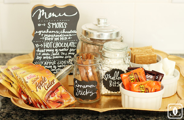 fall favorite snacks, DIY snack bar