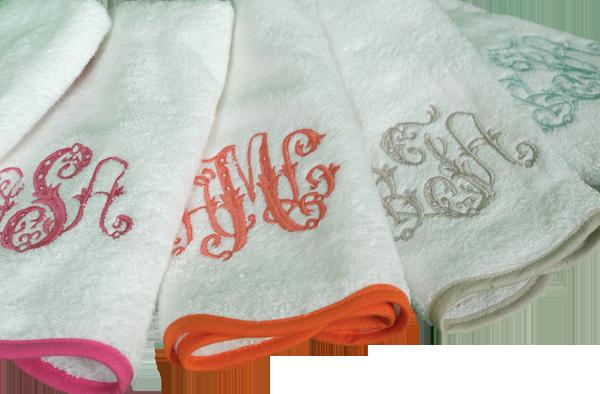 Leotine Linens hand towels, monogram hand towels, powder bath hand towels