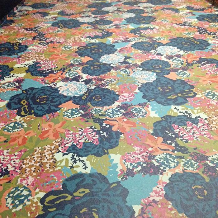 floral wallpaper, DIY wallpaper, powder bath, one room challenge