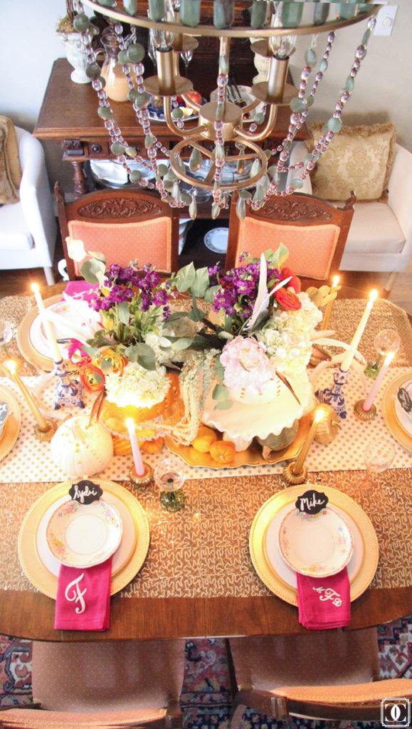 Thanksgiving table decor, autumn decor, fall center piece