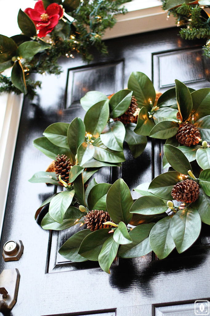 front door wreath, front door decor, holiday wreath, DIY wreath