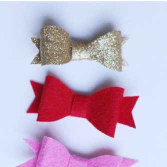 DIY Felt Hair Bows