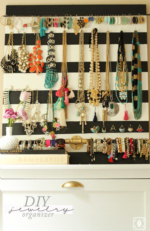 jewelry organizer, DIY jewelry organizer, DIY organizer