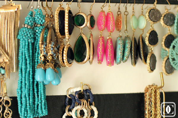 DIY organizer, Jewelry organizer, DIY jewelry organizer