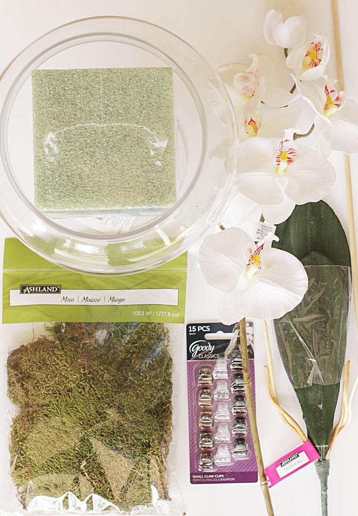 faux orchid planter, DIY planter, faux orchid