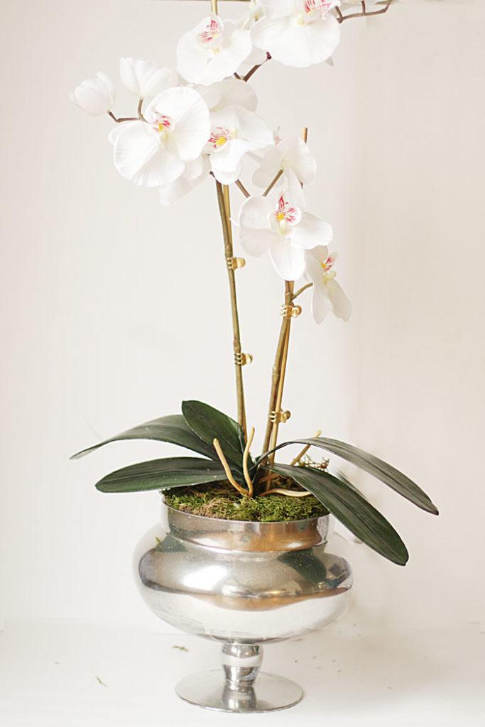 faux orchid, DIY orchid planter