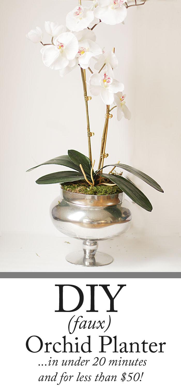 Orchid Planter, Faux Orchid, DIY