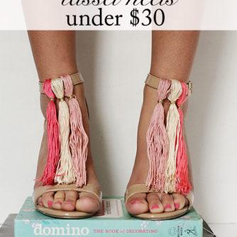 DIY Tassel Heels!