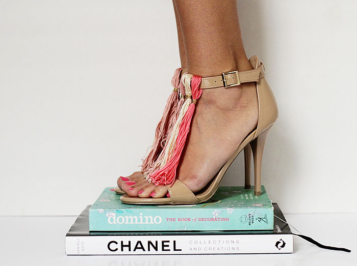 tassel shoes, DIY tassel heels