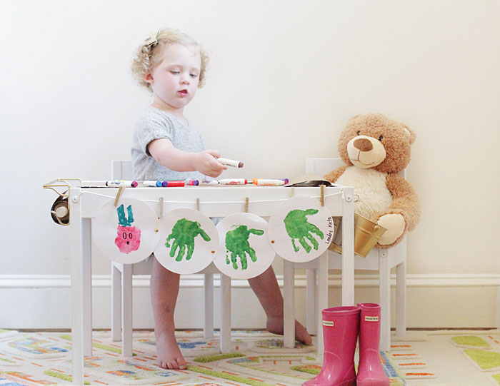 ikea table, children's table DIY