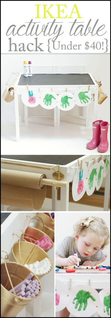 activity table, children's activity table, ikea hack