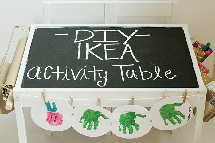 ikea hack, DIY children's table, activity table for children