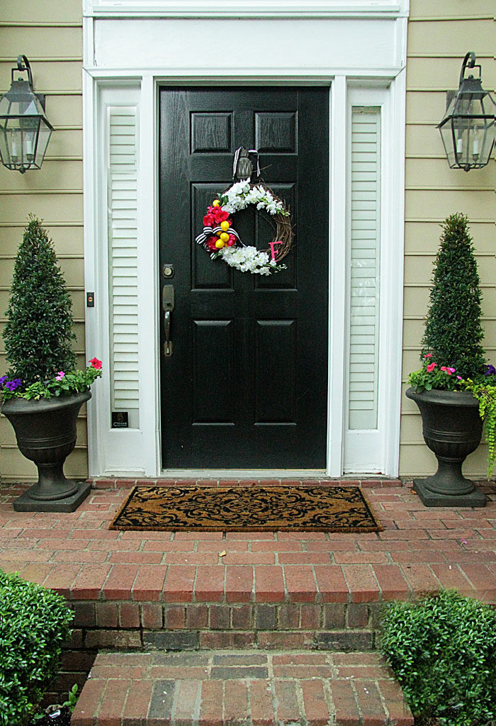 DIY summer wreath, front door wreath