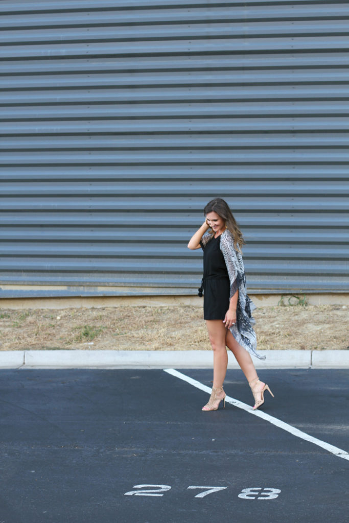 Black Romper, Kimono, How to wear a romper, Jumpsuit