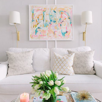 Mood Board Monday: Girly Living Room Nook