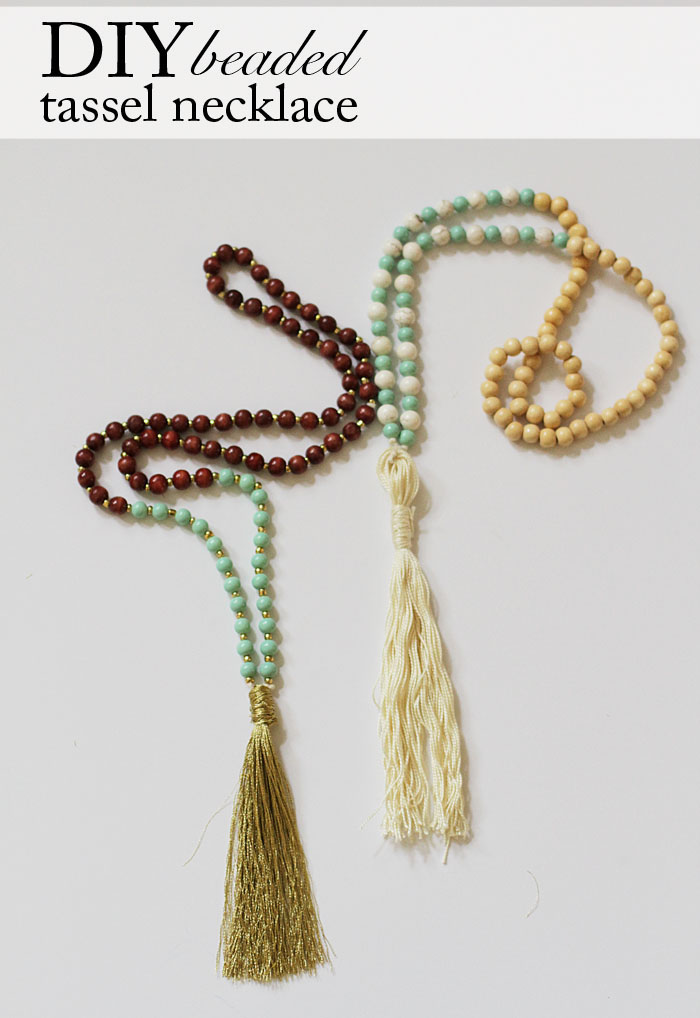 DIY Tassel Necklace | Beaded Necklace | Tassels | DIY