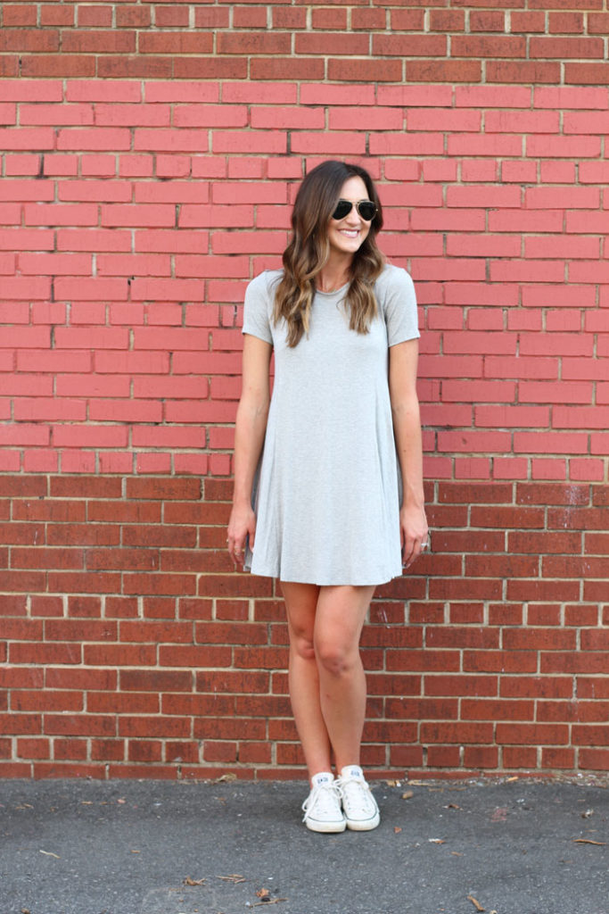 Swing Dress, Grey Dress, Casual Dress, Affordable