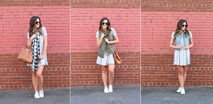 Swing Dress, one dress 3 ways, nordstrom, casual dress
