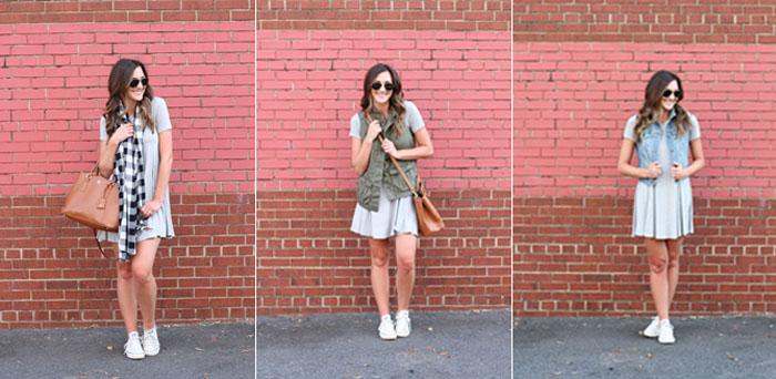 Swing Dress, one dress 3 ways, nordstrom, casual dress