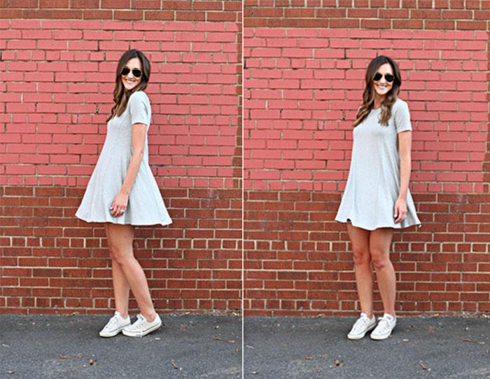 Swing Dress, grey Dress, Affordable Dress, Nordstrom