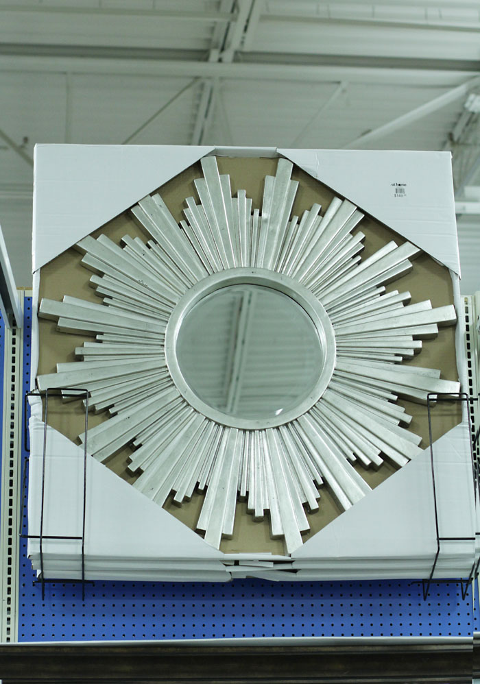 mirror, sunburst mirror, affordable mirror