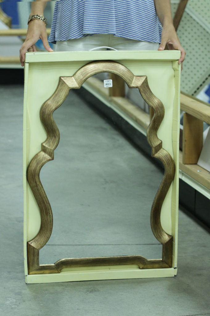 gold mirror, affordable mirror