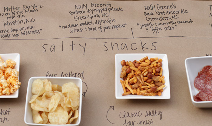 Craft Beer Tasting Party, Salty Snacks, World Market, Party Idea