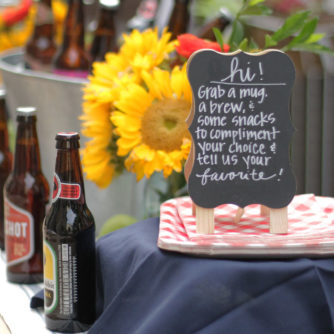 Craft Beer Tasting Party, World Market, DIY, Outdoor Entertaining