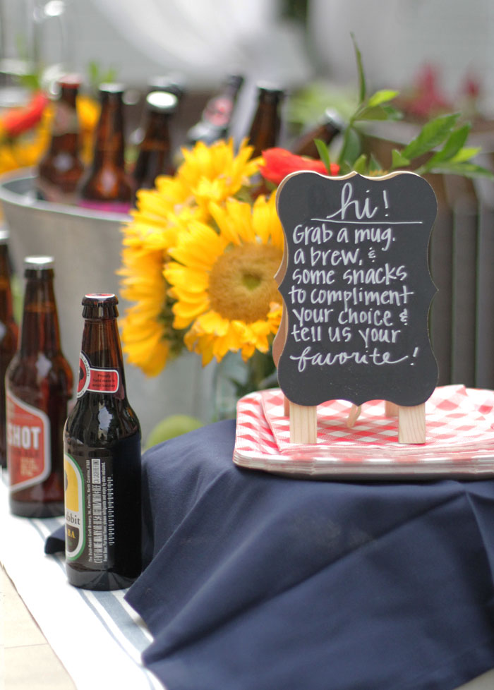 Craft Beer Tasting Party, World Market, DIY, Outdoor Entertaining