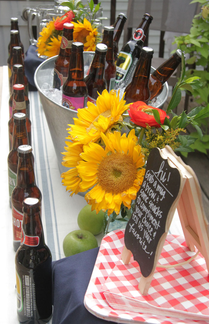 Craft Beer Tasting Party, World Market, Sunflower, Outdoor Entertaining