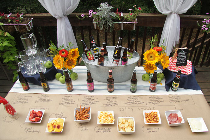 Craft Beer Party, World Market, Outdoor Entertaining, DIY