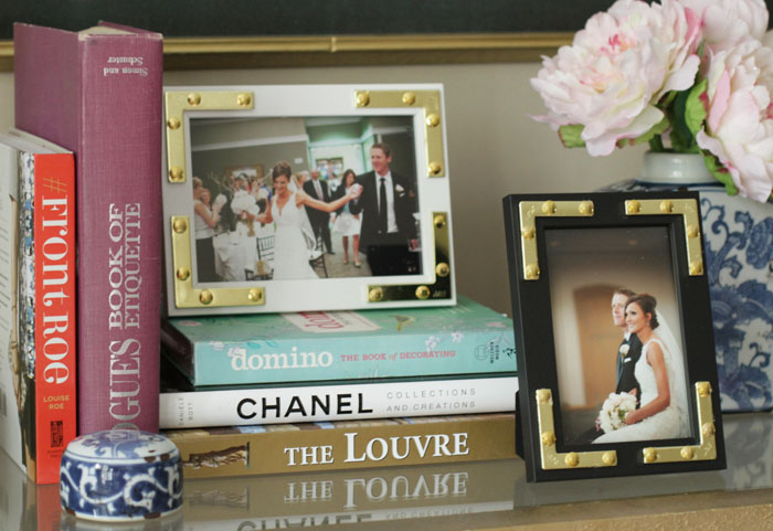 photo frame, DIY, Luxe for less, brass hardware
