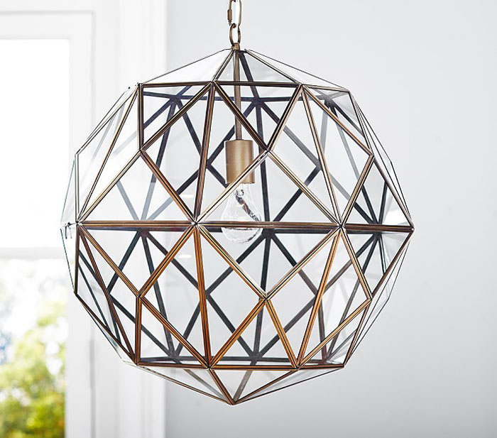 modern chandelier, brass light fixture