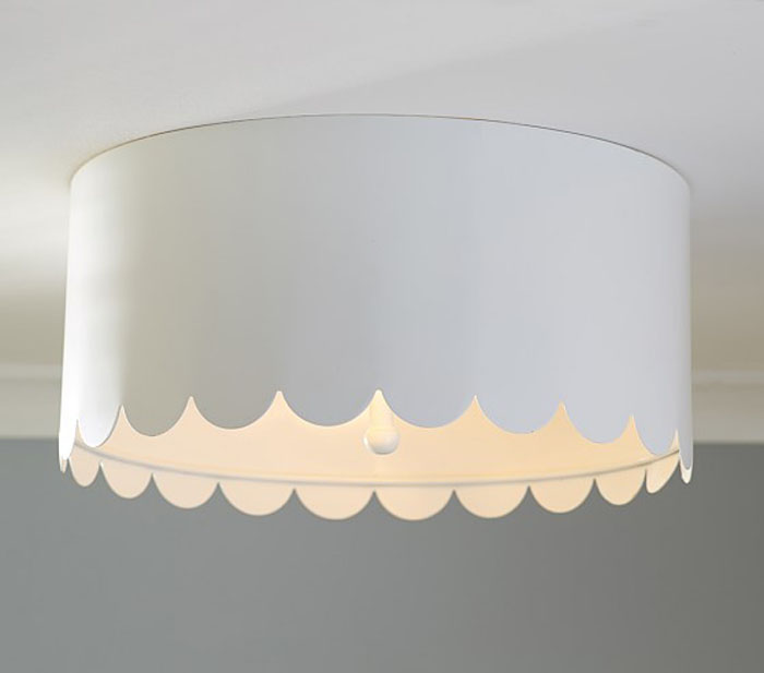 flush mount light, scalloped light