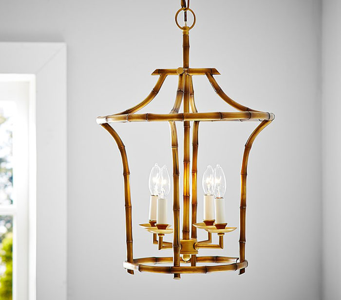 pagoda light, pagoda lantern, bamboo chandelier