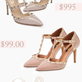 valentino rockstud, look for less, studded heels