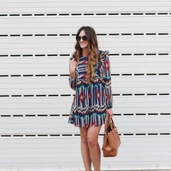 Aztec Dress + Prada Sunnies