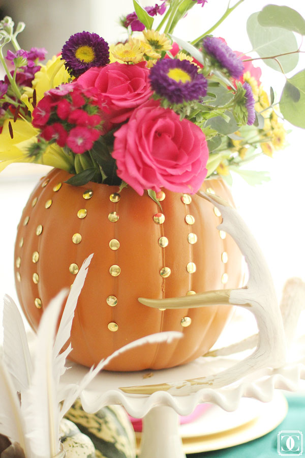 DIY Pumpkin Vase, Fall Decor, Fresh Flowers, Easy DIY