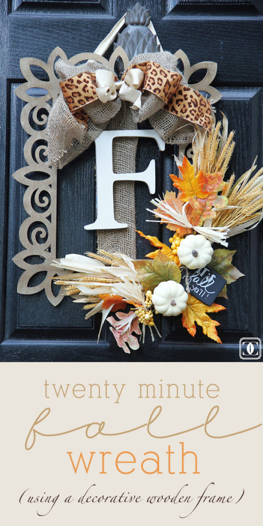 DIY, Fall Wreath, Front Door, Easy DIY